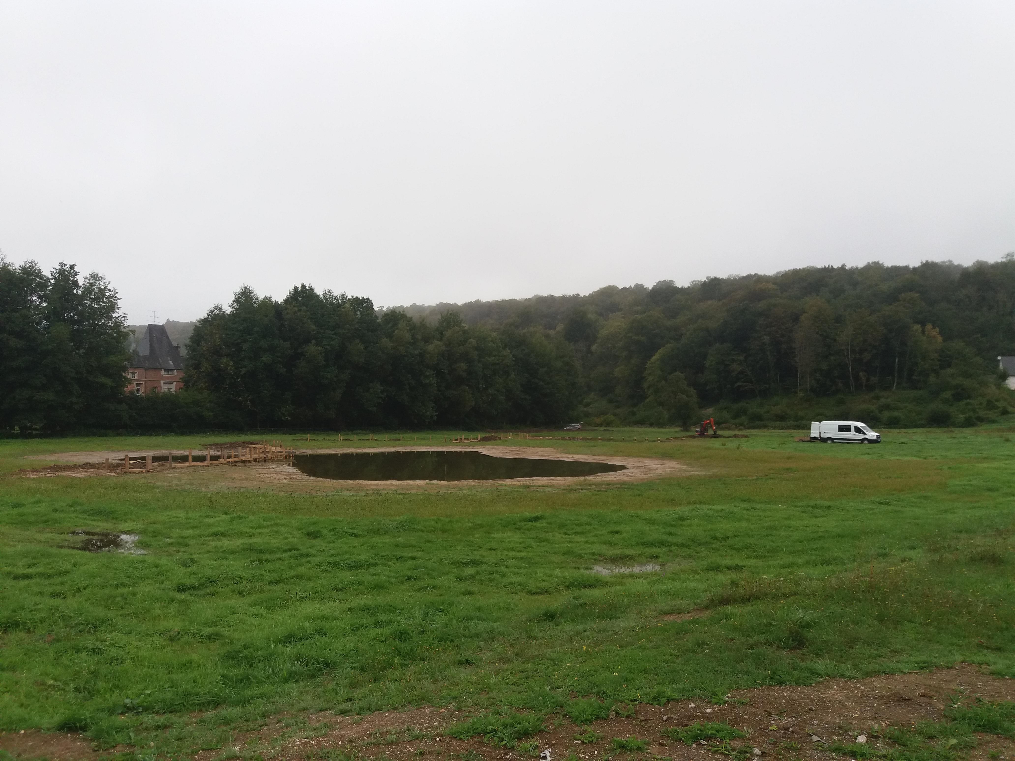Travaux de restauration de la zone humide sur la commune de Fontaine-le-Bourg