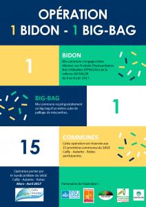 "Flyer opération ""Un bidon - un big-bag"""